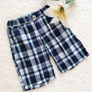 Tommy Hilfiger Boy's Plaid Blue Shorts 100% Cotton